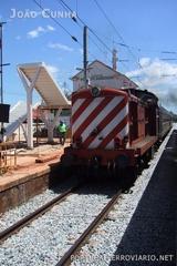 Regional 5904 Faro - Lagos -- Locomotiva 1419 com um regional para Lagos, na estação de Albufeira, um mês antes da inauguração da tracção eléctrica até Faro. As 1400 desapareceriam para dar lugar às UTD 0600, em exclusivo.
